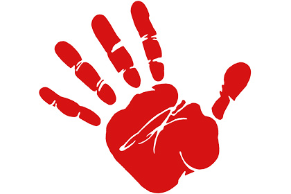 Red hand quotation.